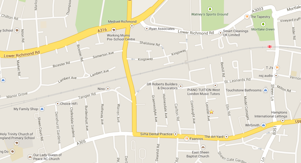 Leinster Motors Area Map